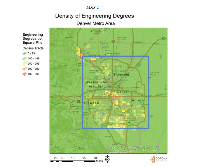 Density of Engineering Degrees
