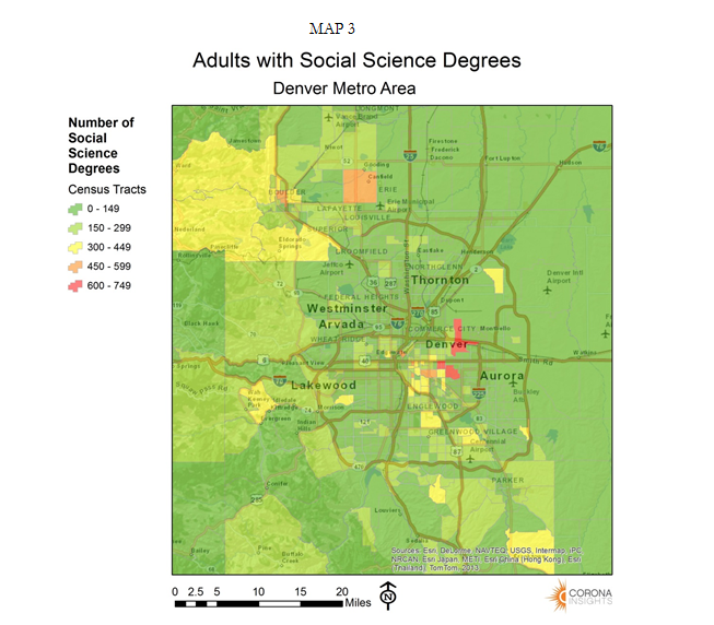 Adults with Social Science Degrees