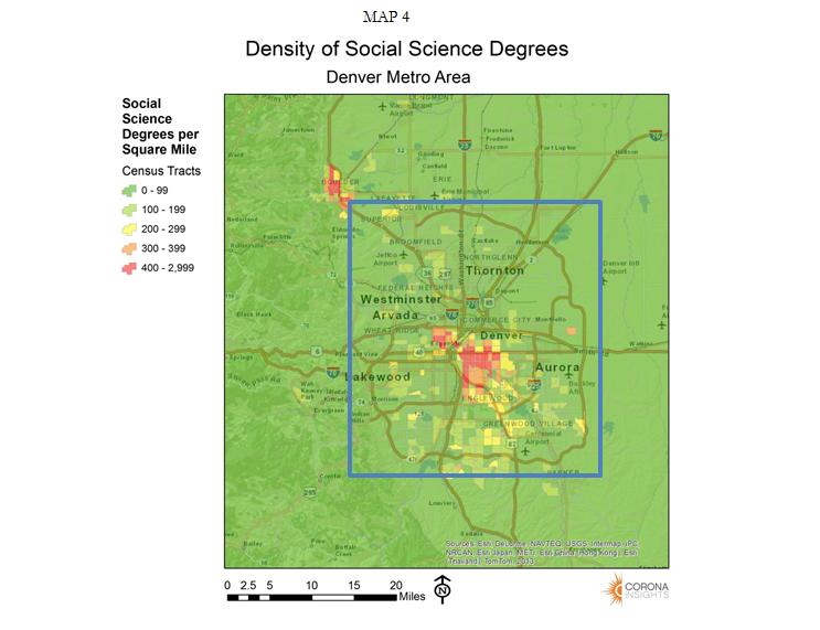 Density of Social Science Degrees