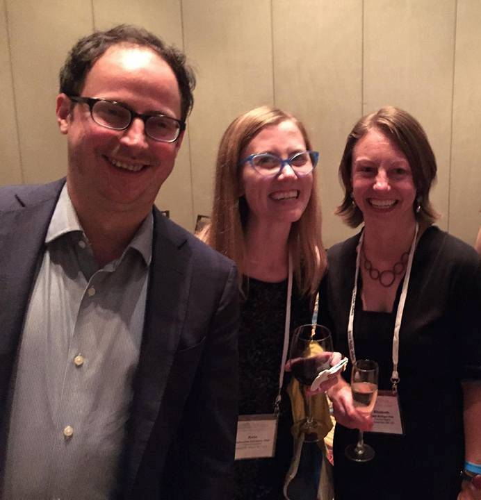 Beth and Kate w Nate Silver at AAPOR 2015